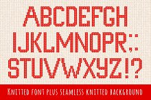Knitted font and seamless background