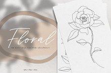 Floral Vector Line Art