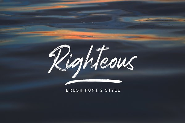 Righteous Handwritten Typeface Brush