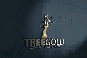 Tree Gold Logo