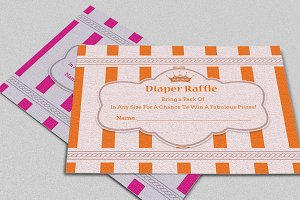 Crown Diaper Raffle Card Template