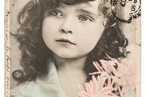 Vintage picture little girl