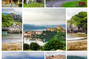 Collage Village in Cantabria (Spain)