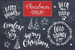 Christmas Overlays Set 8 - Vector