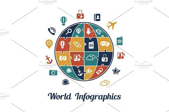 Travel infographics concept