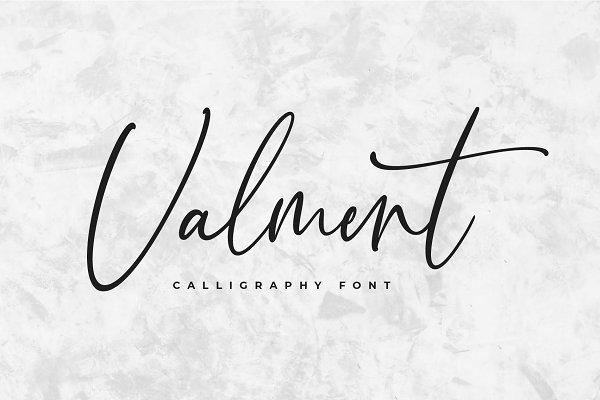 Valment Calligraphy Font