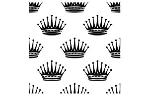 Royal crown seamless background patt