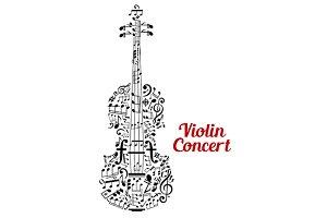 Creative violin concert poster desig