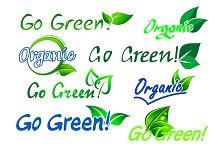 Go green organic labels
