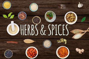 Isolated Food Images-Herbs and Spice