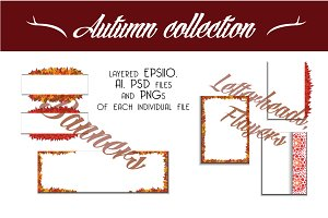 Autumn banners and letterheads