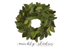 1 Magnolia PNG clipart wreath