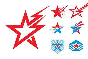 7 Stars - Logo Signs Illustrations