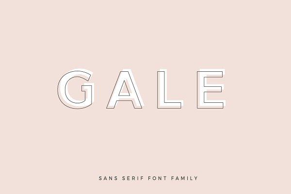 Gale - Feminine Geometric Sans Serif