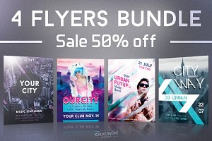 City Party Flyers Bundle
