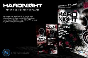 Hard Night Flyer and Poster Template
