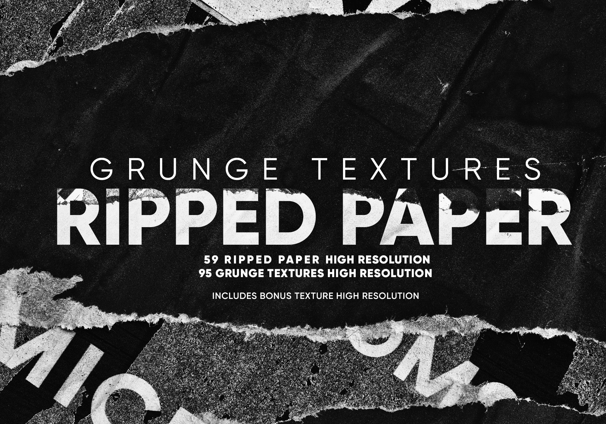 Grunge Textures Ripped Paper | Pre-Designed Photoshop Graphics ~ Creative  Market