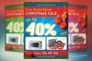 Christmas Time Sale Flyer Template