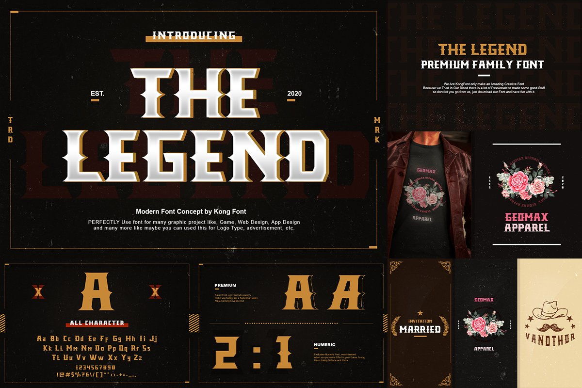 The Legend Modern Font in Serif Fonts - product preview 2