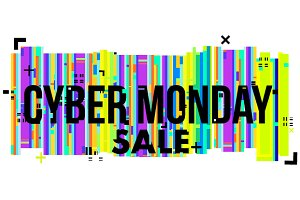 Cyber Monday Sale sign.