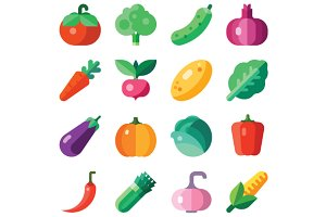 Isolated Vegetables Set