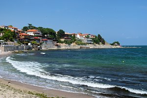 Sea coast in city of Nessebar