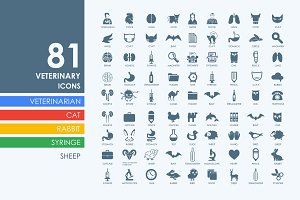 81 veterinary icons