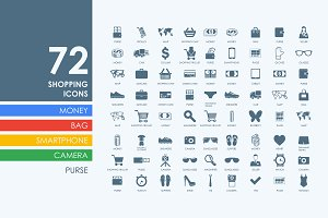 72 shopping icons