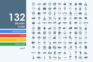 132 delivery icons