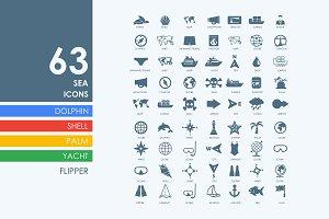 63 sea icons