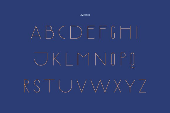 Rothko Modern Art Deco Display Font in Display Fonts - product preview 7