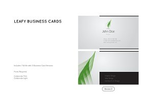 Leafy Business Card Template