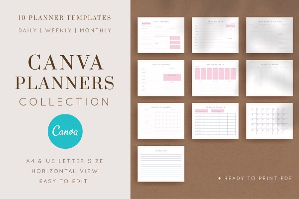 Editable CANVA PLANNERS Collection