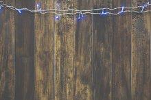 Christmas light wood