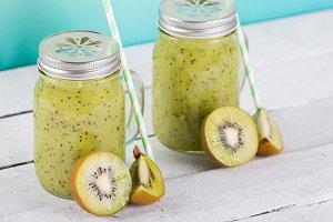 Natural kiwi juice