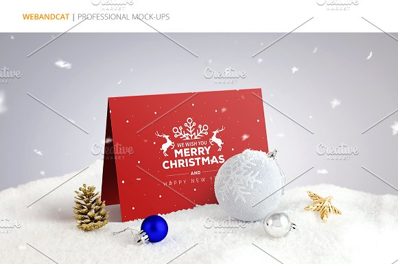 Invitation / Greeting Card Mock-Up in Print Mockups - product preview 7