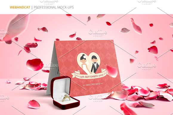 Invitation / Greeting Card Mock-Up in Print Mockups - product preview 2