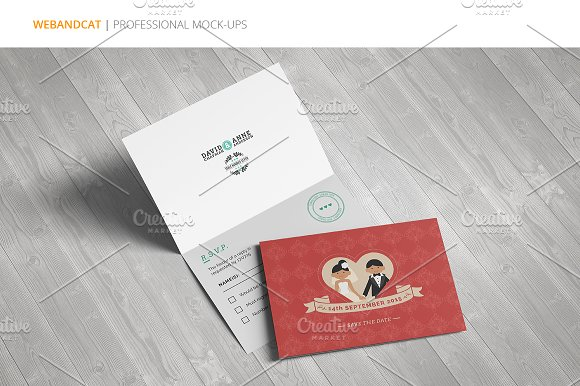 Invitation / Greeting Card Mock-Up in Print Mockups - product preview 6