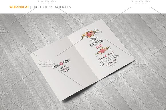 Invitation / Greeting Card Mock-Up in Print Mockups - product preview 3