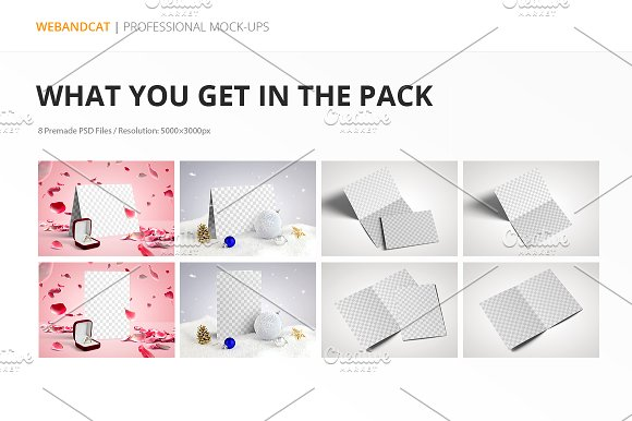 Invitation / Greeting Card Mock-Up in Print Mockups - product preview 9