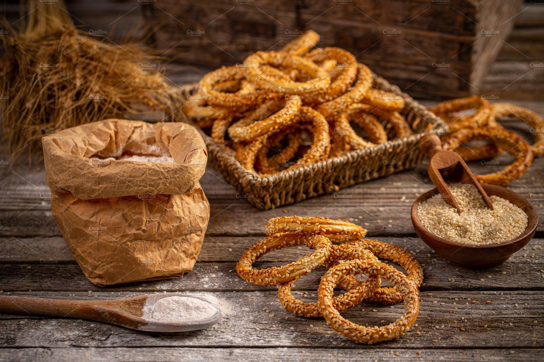 Still Life Of Pretzel Ring High Quality Food Images Creative Market