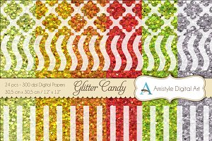Glitter Candy - Digital Papers