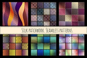 Seamless patterns. Imitation of silk