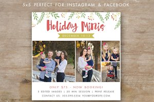 Holiday Mini Session Template 5x5