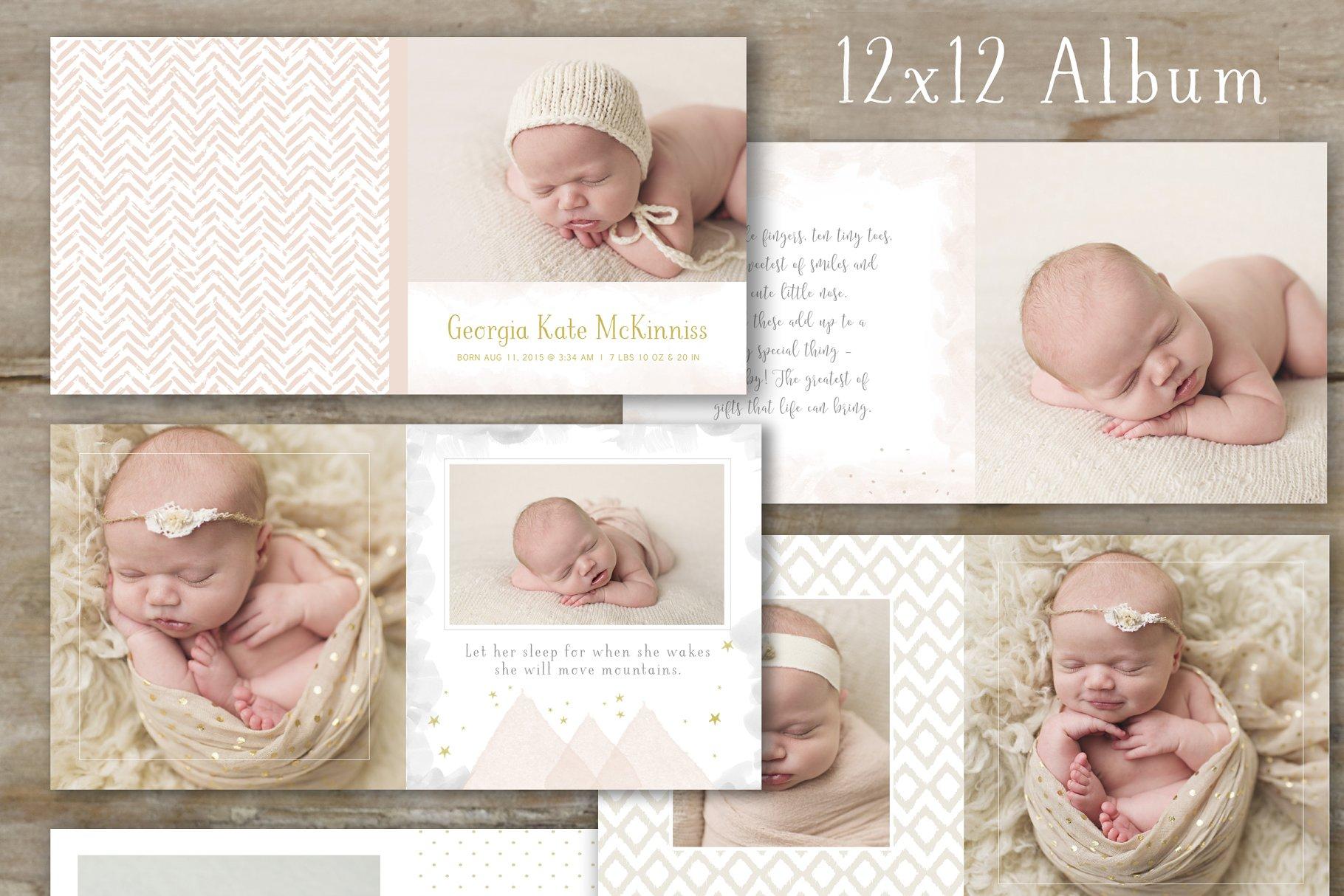 Baby Calendar Design : Photo book template baby album templates creative