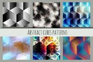 Abstract cubes patterns.