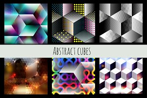 Abstract cubes set.