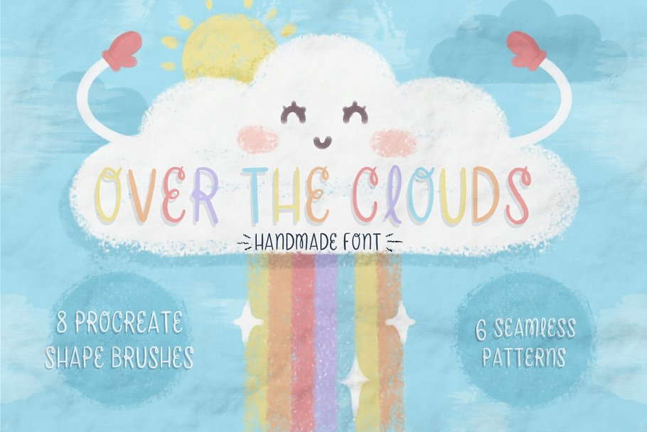 Over The Clouds - Font and Brushes