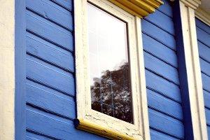 Old Wood Window in Church