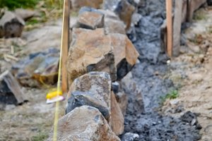 Building Stone Wall